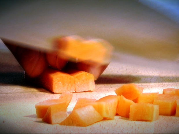 Tailler des légumes en brunoise