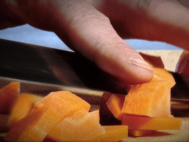 Tailler les légumes en paysanne