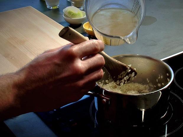 Confectionner un risotto