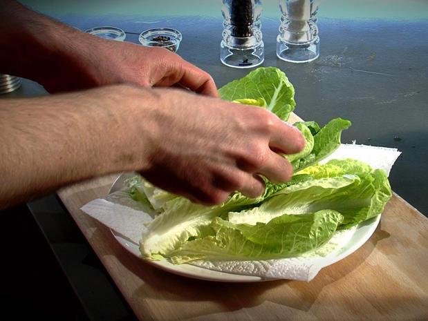 Préparer les feuilles de salades