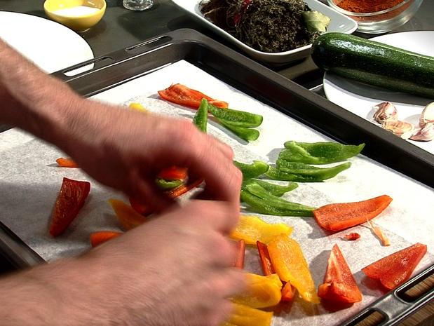 Confire les légumes au four