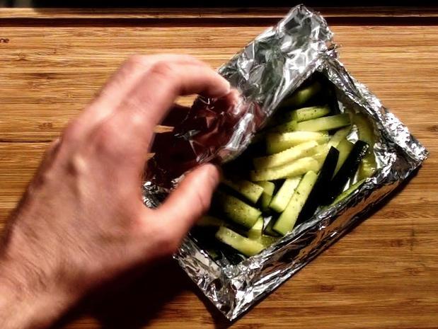 Cuire des légumes en papillote