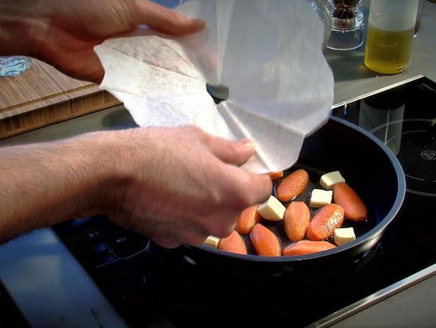 Glacer les légumes à blanc et à brun
