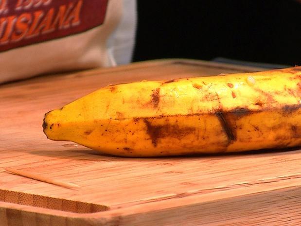 Trancher une banane sans la peler