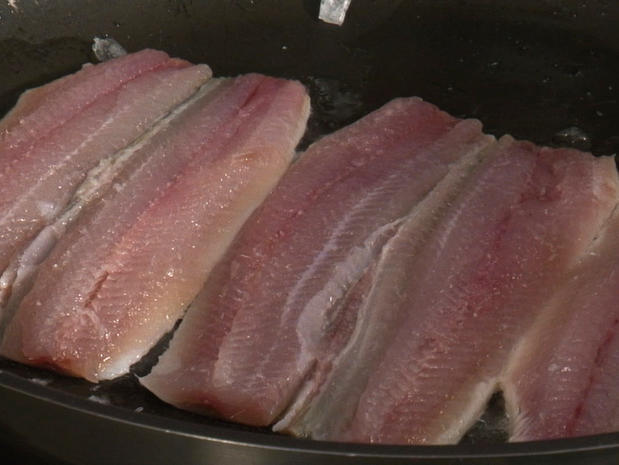 Cuire des filets de sardine
