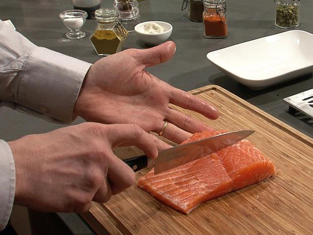 Préparer un pavé de saumon