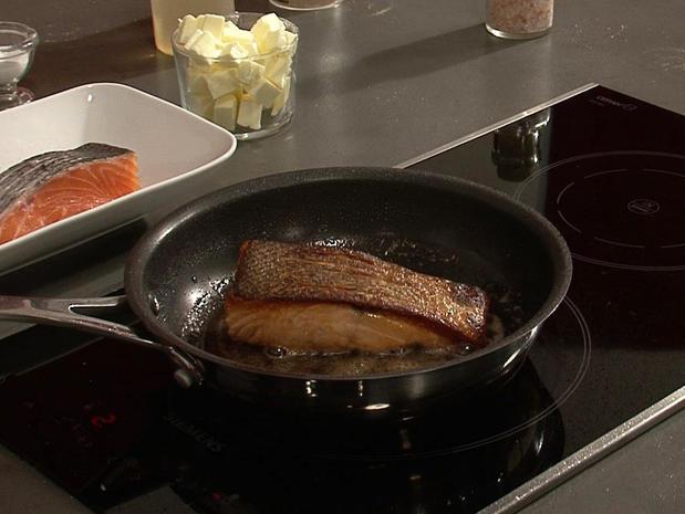 Poêler un pavé de saumon