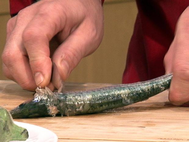 Préparer des filets de sardine