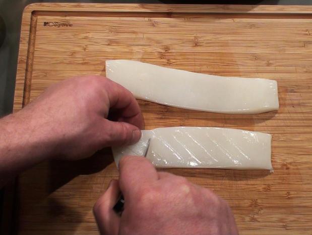 Préparer du blanc de seiche
