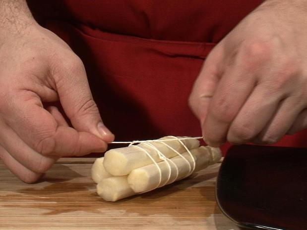 Réaliser un bouquet d'asperges