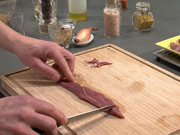 Préparer des aiguillettes de canard